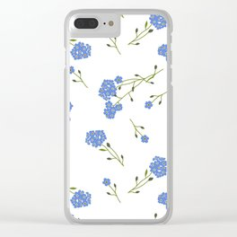 Forget me not II Clear iPhone Case