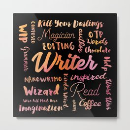 Writer Words Metal Print