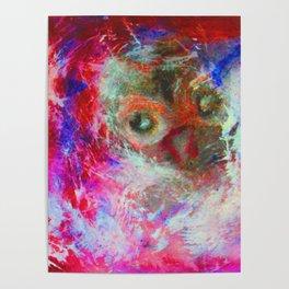 Abstract Owl   #society6 #decor #buyart Poster