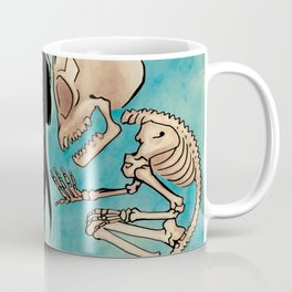 Trinadot Bea Skeleton Monkey Coffee Mug
