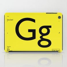 Gill Sans iPad Case