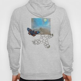 Last Flight of the Red Admiral Butterfly Hoody