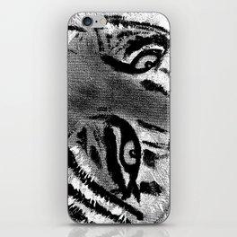 Tiger Eyes - White iPhone Skin