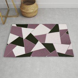 Mauve Black Geometric Glam #1 #geo #decor #art #society6 Rug