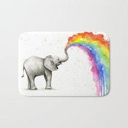 Rainbow Baby Elephant Bath Mat