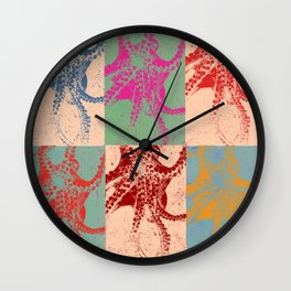 Popart Octopus Wall Clock