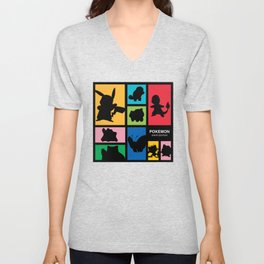 Silhouette of Poke Unisex V-Neck