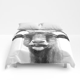 Black and White Goat Comforters