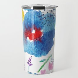 Florals in Watercolor Travel Mug