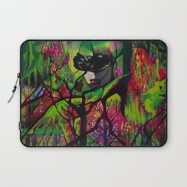 Lost in Neon Synapses Laptop Sleeve