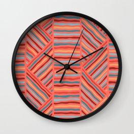 Cheerful Geo Pattern Wall Clock