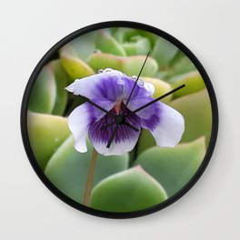 little violet in the morning Wall Clock