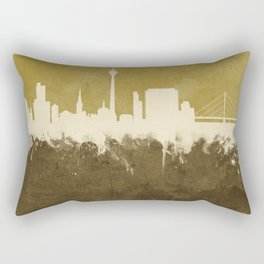 Düsseldorf Germany Skyline Rectangular Pillow