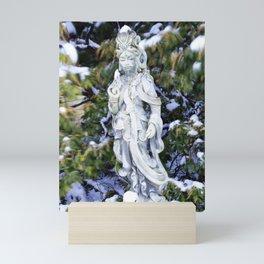 Quan Yin in Winter Mini Art Print