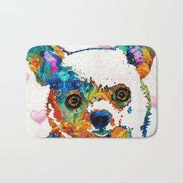 Colorful Chihuahua Art by Sharon Cummings Bath Mat