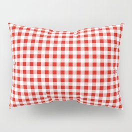 Christmas gingham pattern red and green cute gifts home decor for the holidays Pillow Sham