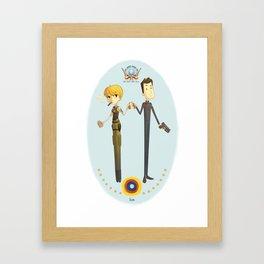 Battlestar couple Framed Art Print
