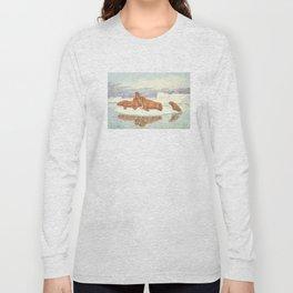 Vintage Illustration of Walruses (1917) Long Sleeve T-shirt