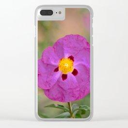 Lynda Anne Art Flower Clear iPhone Case