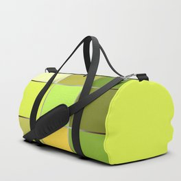 The bright green patchwork Duffle Bag