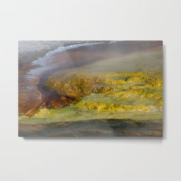 Abstract from a Hot Spring Metal Print