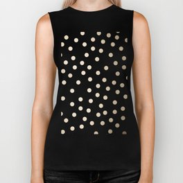 Simply Dots in White Gold Sands Biker Tank