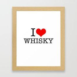 I HEART Whisky Framed Art Print