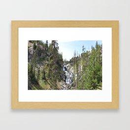 Yellowstone Waterfall Framed Art Print