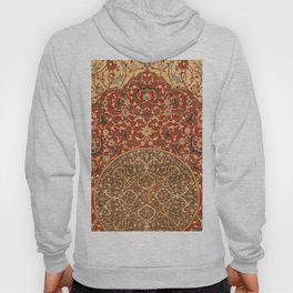 Flowery Vines VIII // 16th Century Contemporary Red Blue Yellow Colorful Ornate Accent Rug Pattern Hoody
