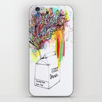 vegan iPhone & iPod Skins featuring Vegan Victory by Sam Corona