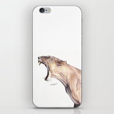 Lioness Yawning iPhone & iPod Skin