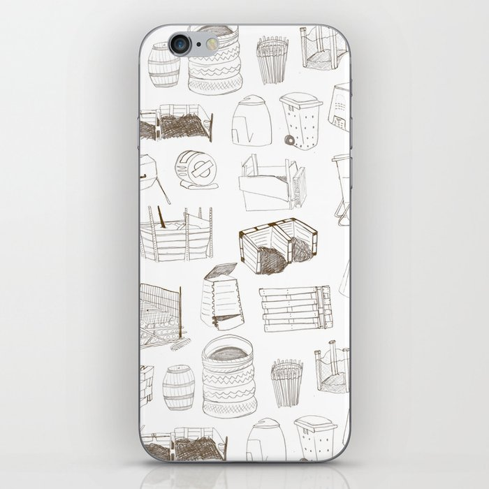 Cover, Contain, COMPOST- 1 of 3 iPhone Skin