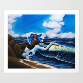 Ariel's Wave Art Print