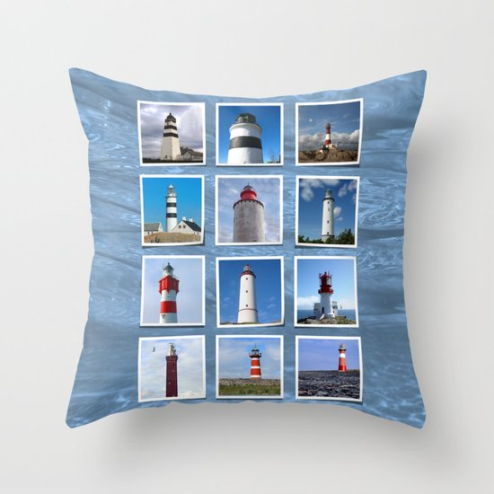 Lighthouses Part I. Throw Pillow