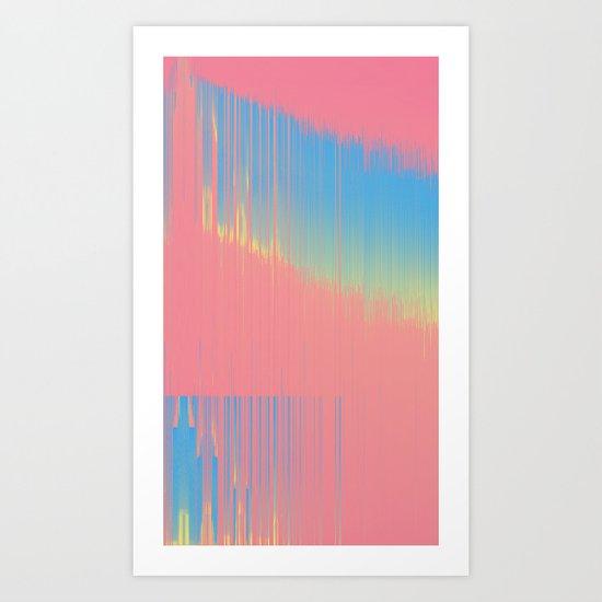 Hot 90's bckgrnd Art Print