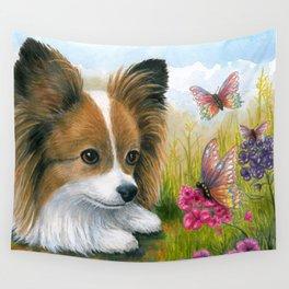 Papillon Dog Wall Tapestry