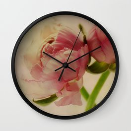 Falling in Love with rose flowers Wall Clock