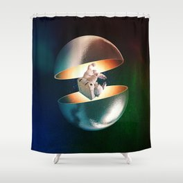 Hatched Shower Curtain