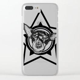 Tyson (black & white) Clear iPhone Case