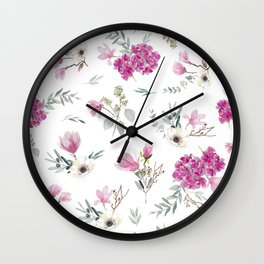Pink pattern Wall Clock