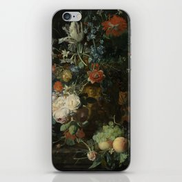 Jan van Huysum - Still life with flowers and fruits (1721) iPhone Skin