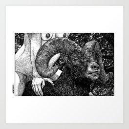 asc 882 - Le bélier (Queue choisir III) Art Print