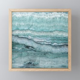 Mystic Stone Aqua Teal Framed Mini Art Print