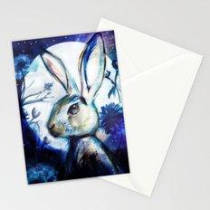 Moonlight Rabbit Stationery Cards