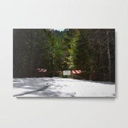 Road Closed Metal Print