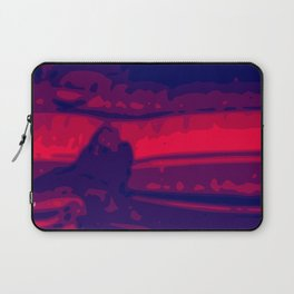 Eye of Tiger Red - Blue Abstract Vector Texture Laptop Sleeve