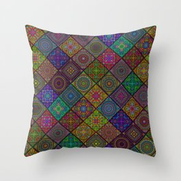 Kaleidoscope tiles Throw Pillow