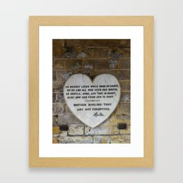 Heart at Highgate Cemetery Framed Art Print