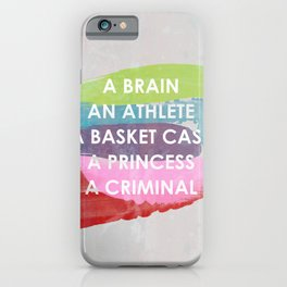 Sincerely yours, The Breakfast Club. iPhone Case