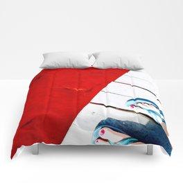 Rad Red Lagoon Comforters
